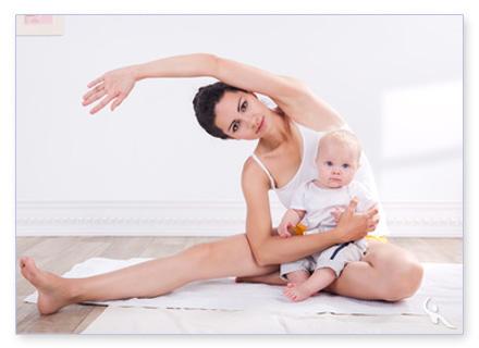 Training nach der Schwangerschaft mit Baby